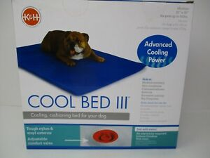 """K&H Pet Products Cool Bed III Cooling Cushioned Dog Bed Pad Medium 22""""x32"""" Blue"""