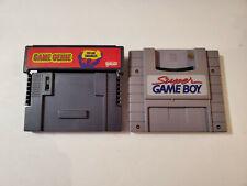 Super Game Boy (GB) and Super Game Genie Duo for Super Nintendo Authentics