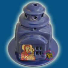 Orthodox Ceramic Oil Candle Orthodox Church Style 4 Colours Made in Greece