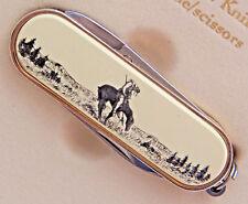 Swiss Knife Barlow Scrimshaw Carved Painted Art End of Trail Scissor 506410 NEW
