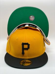 Pittsburgh Pirates Yellow New Era 1971 World Series 59FIFTY Fitted Hat -Green UV