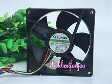 1pc SUNON 8020 PMD1208PKV1-A fan DC12V 4.8W PWM 4pin #M2566 QL
