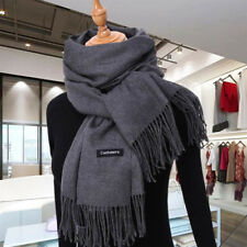 New Fashion Men's Winter Warm Gray 100% Cashmere Pashmina Long Soft Neck Scarf