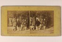 Scena Artistica Nel Una Foresta c1860 Francia Foto Stereo Albumina Vintage