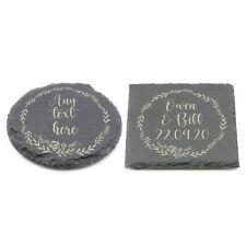 Personalised Slate Coaster, Custom Name Laser Engraved Gift Birthday