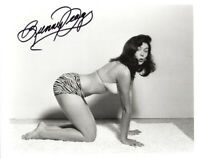 BUNNY YEAGER SIGNED 8x10 PHOTO FAMOUS BETTIE PAGE PHOTOGRAPHER RARE BECKETT BAS