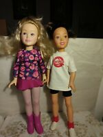 """Babysitters Club STACEY & KRISTY 18"""" Rare GUC Kenner 1993 VINTAGE LOT DOLLS !"""