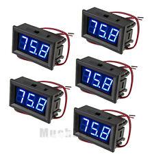 5x Mini DC 5-120V Voltmeter LED Panel 3-Digital LCD Display Voltage Meter 2-wire