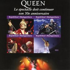 More details for madagascar music stamps 2021 mnh queen freddie mercury singers 4v impf m/s