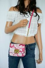 MICHAEL KORS TINA SMALL CLUTCH MINI SHOULDER CHAINED FLAP BAG  GRANITA PINK