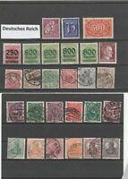Lot Deutsches Reich postfrisch und gestempelt 27 Werte