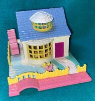 Polly Pocket Grandma's Cottage COMPLETE dolls cookie tray Pollyville bluebird