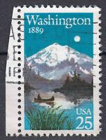 USA Briefmarke gestempelt 25c Washington 1889 mit Seitenrand links  / 347