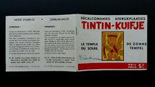 Tintin Kuifje Tim Décalcomanies bilingue à l'italienne 1963 Temple rare complet