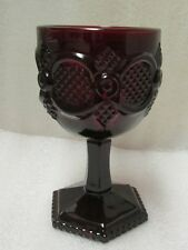 VINTAGE AVON RUBY RED GLASS 1878 CAPE COD COLLECTION WATER GOBLET PLANTER VASE!