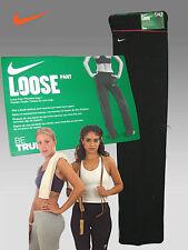 Nuevo Nike para Mujer Drifit Entrenamiento Pantalones Suelto Estilo Black Rosa S