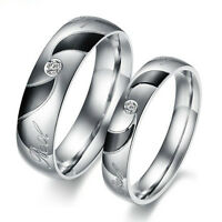 R025 Titanium Steel Promise Ring Love Couple Wedding Bands LOVER GIFT wholesale