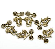 10 x 22mm Antique Bronze Zinc Alloy Kitchen Cart Steampunk Pendant Charm R43