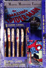 Marvel Comics Spider-man Candy Canes + Comic + Trading Cards 1994 Box Set .