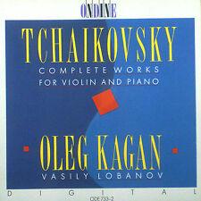 CD TCHAIKOVSKY - complete oeuvres for violon + piano, Kagan / Lobanov
