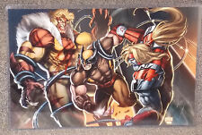 Wolverine vs Sabretooth & Omega Red Glossy Print 11 x 17 In Hard Plastic Sleeve