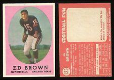 1958 Topps #123 Ed Brown *Bears* EXCL+ **AA-7851**