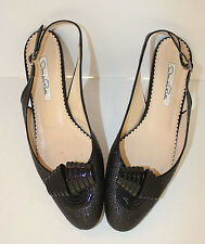 Oscar de la Renta 🌼 Women's Sling, Slip On Shoes  Black  SZ:7.5 Eur 38