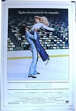 ICE CASTLES 1sh '78 Robby Benson ice skating! original linen-backed poster