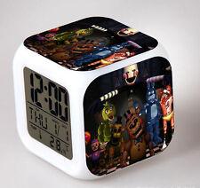 Hot! LED Alarm Clock FNAF Five 5 Nights at Freddy's Colorful Color Alarm Clock 7