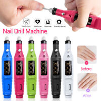 Nail File Drill Kit Electric Manicure Pedicure Acrylic Portable Salon Machine US