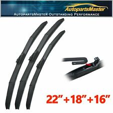 3Pcs Fit For Mitsubishi Expo LRV 1994-1992 Windshield Front Rear Wiper Blades