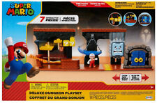 Super Mario Interactive Deluxe Dungeon 14pc Playset Kid Toy Gift