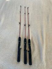 3 Zebco Dock SC301 Ice Fishing Rods