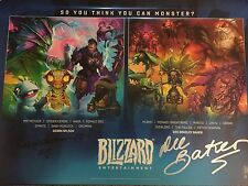 """BlizzCon 2015 Signed """"So You Think You Can Monster"""" Poster World Of Warcraft"""