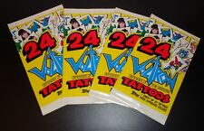 1984 Topps Voltron Defender of the Universe Temporary Tattoos 4 Unopened Packs
