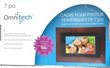 "Omnitech 7"" Digital Picture Photo Cherry Wood Frame with Black Matte Inset #A32"