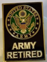"US ARMY ""RETIRED"" large 1.5 inch  Pin"