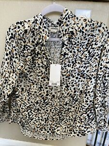 """zadig & voltaire shirt Blouse NWT New Leopard """"tink Leo"""" Print XS  Extra Small"""