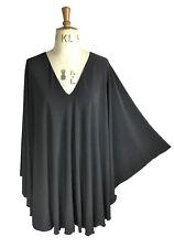 Baylis & Knight Black plunge neck STUDIO 54 Glam 70's Bat Wing DISCO Dress