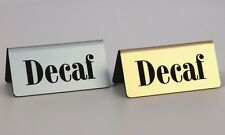 Engraved Decaf Tents, Silver/Gold, 6 Pack, Free Shipping