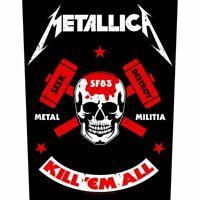 "METALLICA - ""METAL MILITIA - LARGE SIZE - SEW ON BACK PATCH"