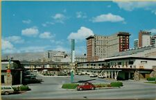 Deseret Inn Exterior View Old Cars VW Bug Bank Salt Lake City UT Postcard A27