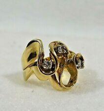Vintage 14KT Gold w/ 3 Diamonds  Ring  6.3 grams