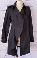 New SAMPLE UNRAVEL Womens Size S Approx. Black Trench Coat DEFECT FLAW READ