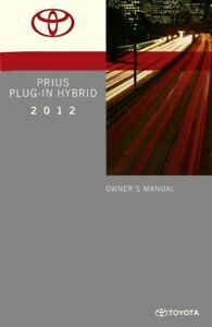 2012 Toyota Prius Plug-In Hybrid Owners Manual User Guide