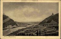 Porta Westfalica ~1920/30 Kaiser Wilhelm Denkmal Bauwerk Fluß Weser Weserbrücke