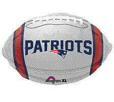 "NFL New England Patriots Football 18"" Foil Balloon Double Sided 3 Pack Helium"