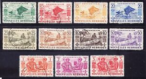 NEW HEBRIDES FRENCH 1953 SGF81/91 set of 11 - fine used. Catalogue £170