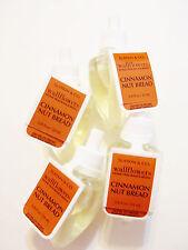 Bath Body Works, Slatkin Co, CINNAMON NUT BREAD Wallflower Refill Bulbs, NEW x 4