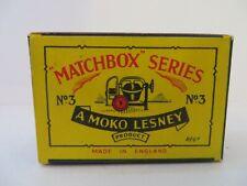 Matchbox Moko Lesney Cement Mixer 3a Type B2 EMPTY ORIGINAL BOX ONLY - VERY RARE